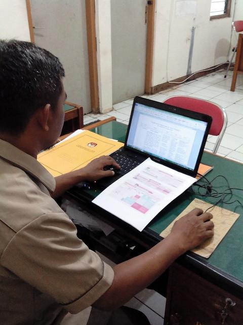 KPU TULUNGAGUNG LAPORKAN PROGRESS REPORT PEMBANGUNAN RPP  KE KPU PROVINSI JATIM