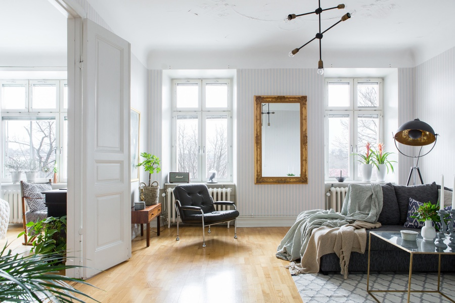 Fresh Scandinavian Home Filled with Light