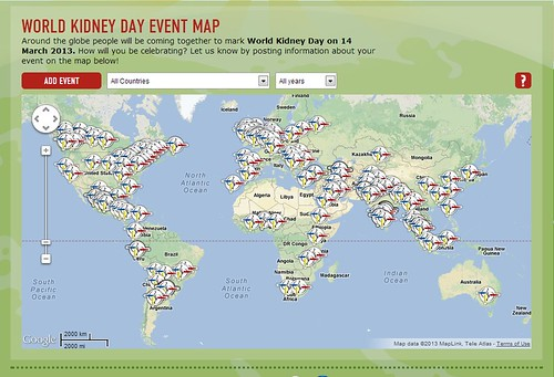WKD Google Events map 2013 | by Official World Kidney Day 2013