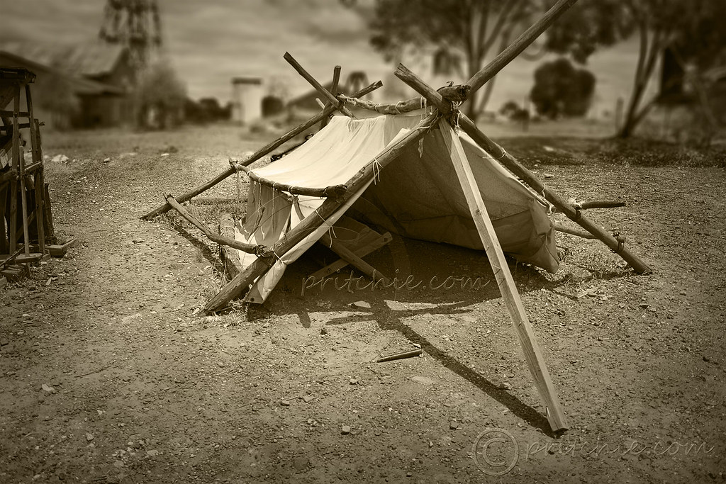 ... Old Gold Miners Tent - Vintage | by pritchiedotcom & Old Gold Miners Tent - Vintage | REF IMG_1072 | Stephen Pritchard ...