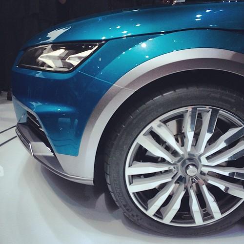 @Audi Allroad Shooting Brake Concept Car @ Press Conferenc