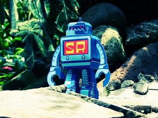 Sticker Robot Papertoy | by SalAzad