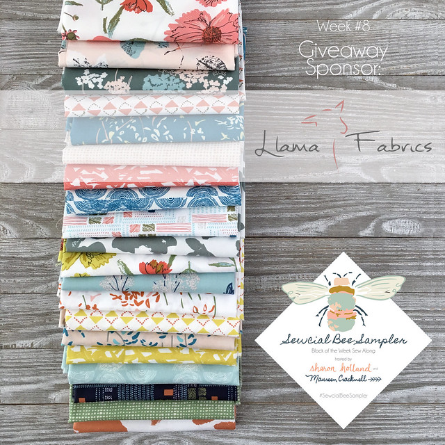 A Sewcial Bee Giveaway with Llama Fabrics!