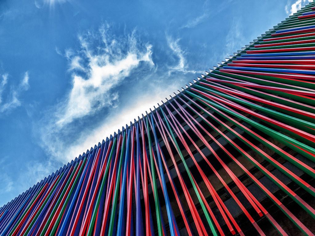 Garage Facade colorful garage facade | this parking garage has an interest… | flickr