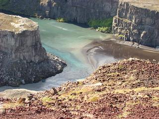 066 Jökulsá canyon bij Hafragilsfoss