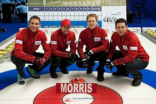 Team Morris, — Vernon Curling Club/Kelowna Curling Club, Vernon/Kelowna, B.C.John Morris (throws third), Jim Cotter (throws fourth), Tyrel Griffith, Rick Sawatsky, Pat Ryan (coach) | by seasonofchampions