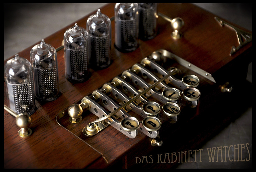 Timewriter Steampunk Nixie Tube Clock