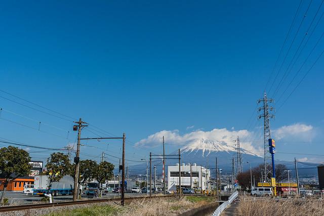 岳南電車と富士山を一緒に撮る撮影スポット