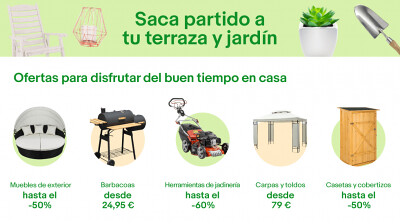 Ofertas en terrazas muebles de exterior y jard n en ebay for Ofertas en muebles de terraza y jardin