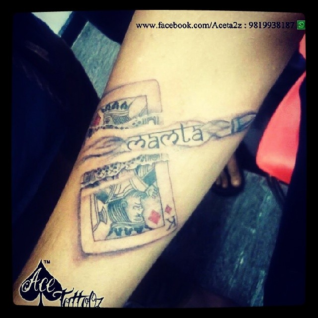 King And Queen Of Hearts Card Tattoo 66568 Usbdata