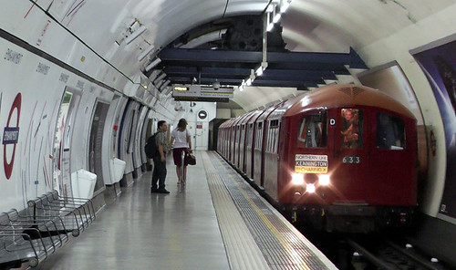 1938 Tube Train at Embankment (southbound) Northern Line 21July2013