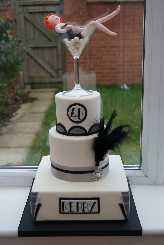 Art Deco Birthday Cake Based On Designs For A Great Gatsby Flickr