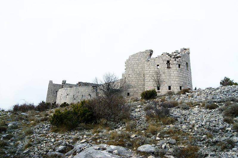 Вид на крепость Кличань