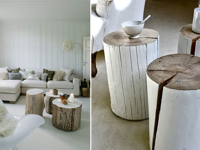 ... Diy Inspiration Tree Stump Coffee Tables A Pair And A Spare | By  Apairandaspare