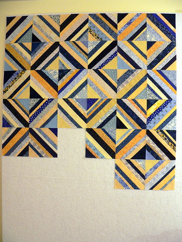 Blue & Yellow Strings | by Deb@asimplelifequilts