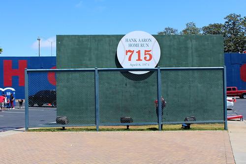 Atlanta - Turner Field: Gold Parking Lot - Hank Aaron 715th Home Run Monument