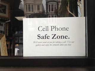 cell phone safe zone window sign lynn friedman flickr. Black Bedroom Furniture Sets. Home Design Ideas