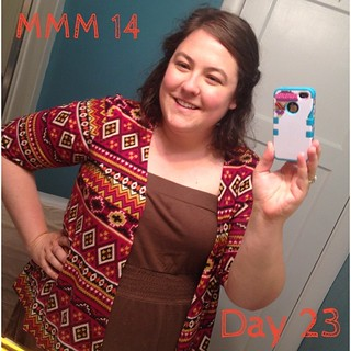 #mmm14 #memademay day 23 it's raining here (thankgod!) so you will have to settle for an awkward bathroom selfie. Me made sweater, dress rtw. Turn out I haven't made an solid colored dresses that look ok with this sweater, must remedy soon! | by thegreenviolet