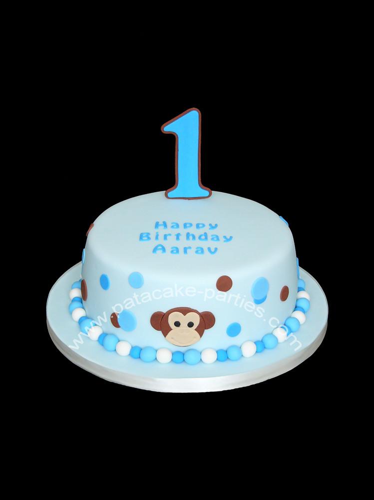 1st Birthday Cake Monkey Spots Cute 1st Birthday Cake Flickr