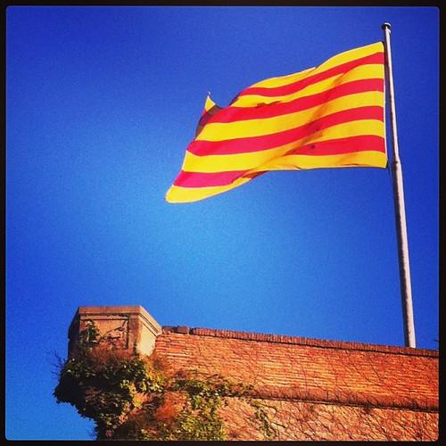 #Senyera al #castell #Barcelona #Catalunya