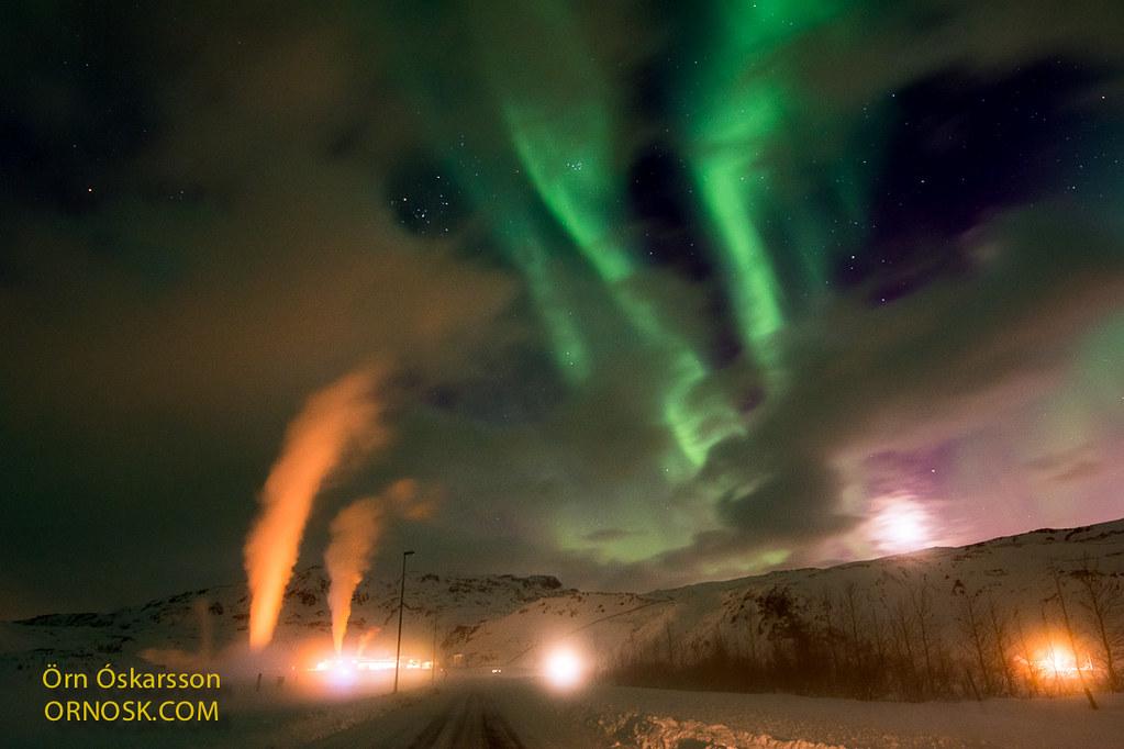 Norðurljós - Aurora borealis 1 March 2017