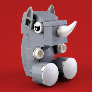 Peluches animaux LEGO Rhino