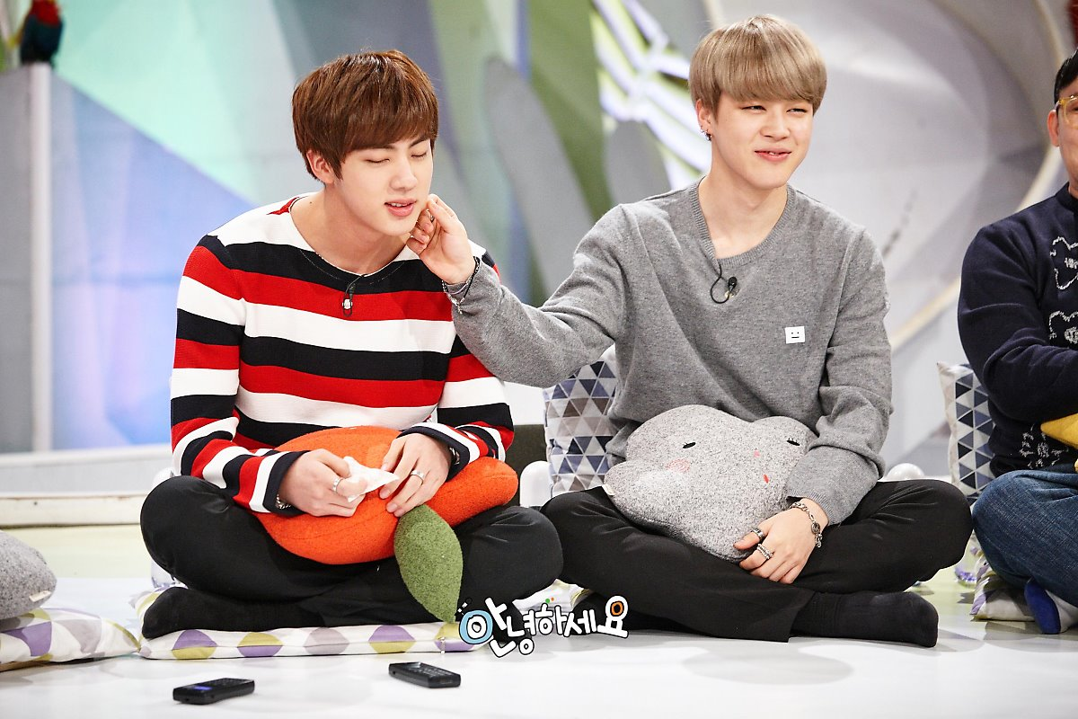 picture bts jin amp jimin at hello counselor 170313