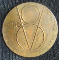 1934 V8 Ford Century Of Progress Medal obverse