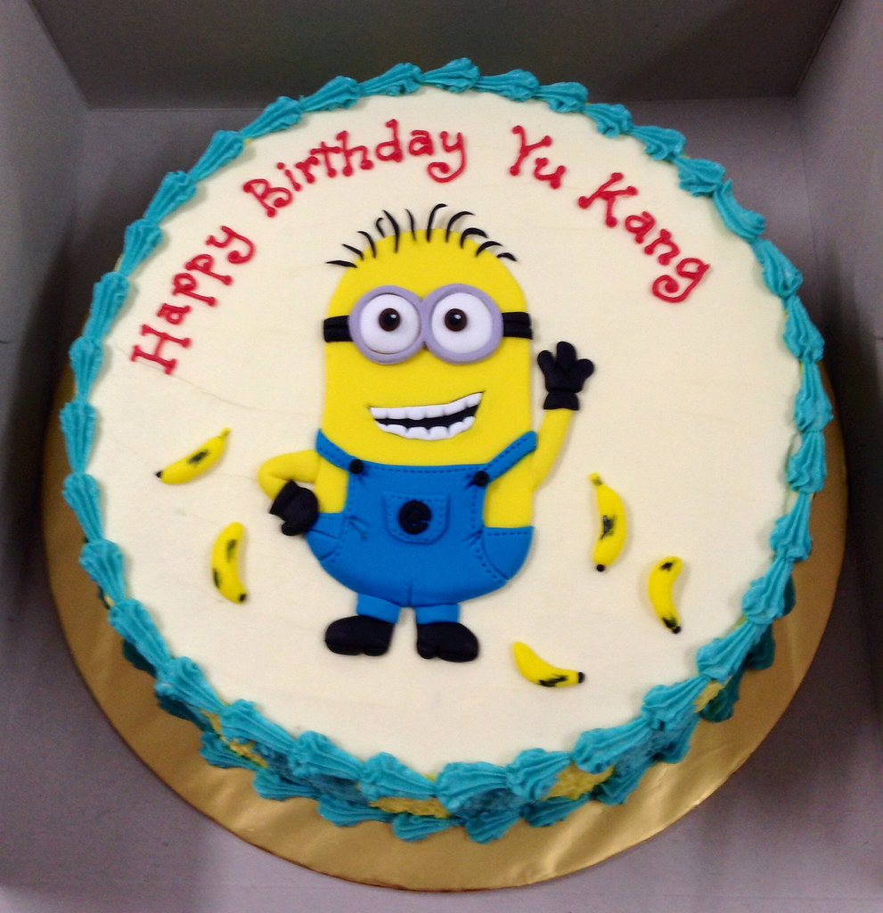 Minion Round Cake Tracey Chooi Flickr