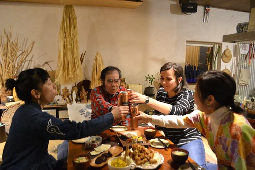 アイヌ文化ツアー懇親会 (Get-togeher on Ainu Cultural Tour)