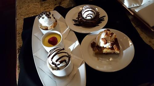 Dessert tray at Bravo! Cucina Italiana