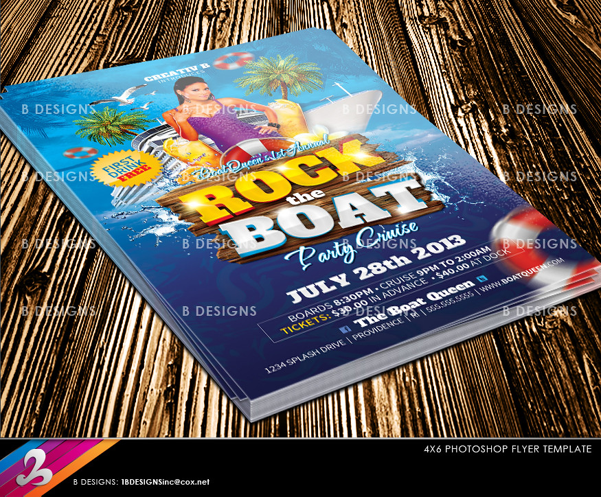 Boat Cruise Party Flyer Template Download Fully Layered Ph Flickr