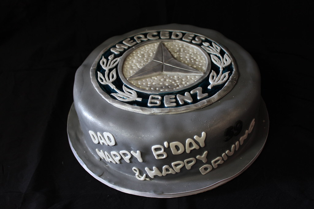 Mercedes Logo Birthday Cake For My Dad Glykodimiourgies By