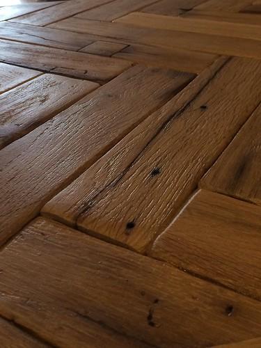 Reclaimed french oak parquet flooring london reclaimed for Reclaimed teak flooring