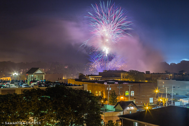 Fireworks Over Saratoga
