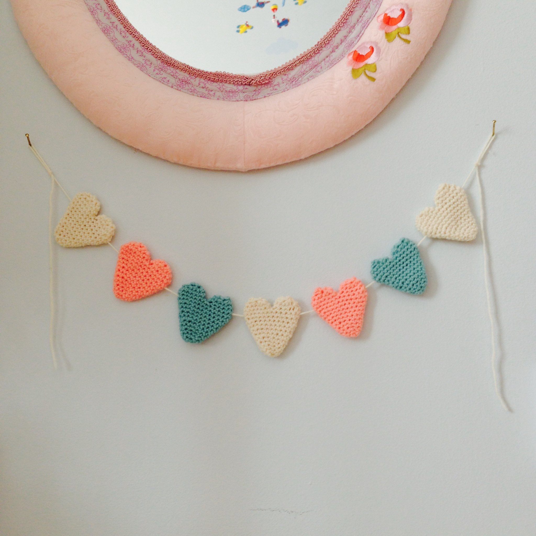 Heart to heart crochet garland
