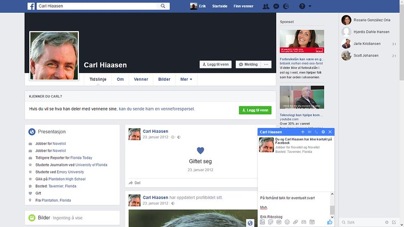 facebook carl hiaasen