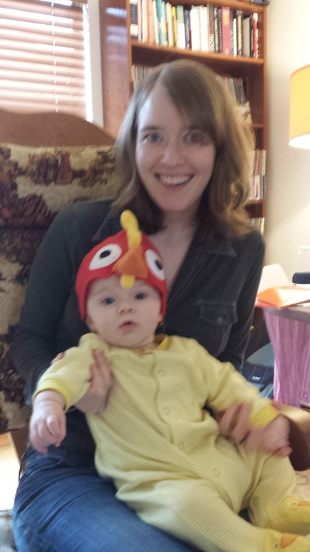 The chicken hat now fits