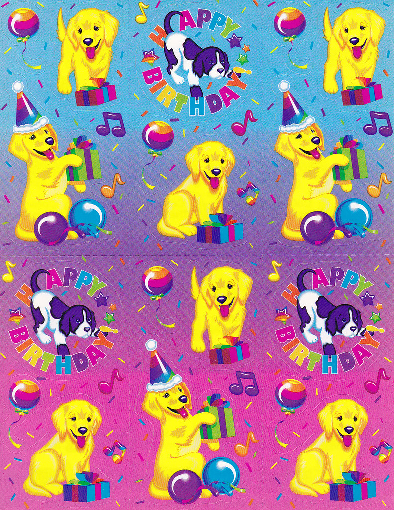Lisa Frank Dog Birthday