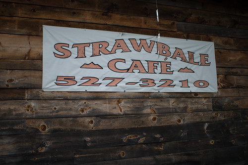 Strawbale Cafe Sign | by goingslowly