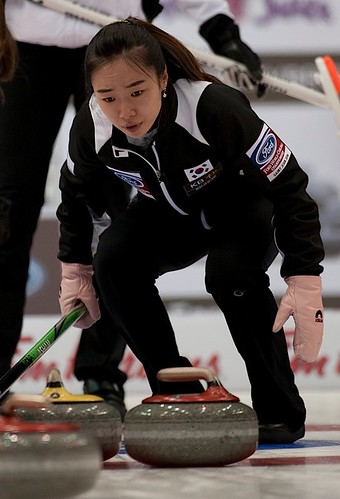 Saint John N.B.Mar22_2014.Ford World Woman's Curling Championship.,Korea skip Ji-Sun Kim.CCA/michael burns photo | by seasonofchampions