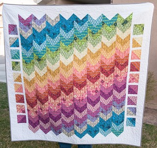 Finished True Colors Chevron Quilt | by Pitter Putter Stitch