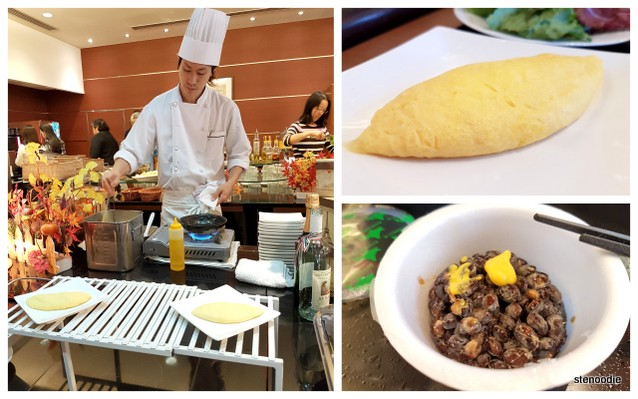 Omelette station at Mercure hotel