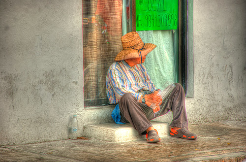 Man Sitting on Step HDR | by MynickisNick
