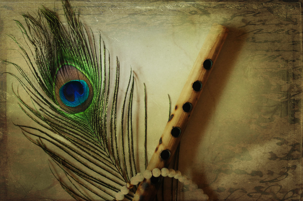Peacock feather wallpaper krishna