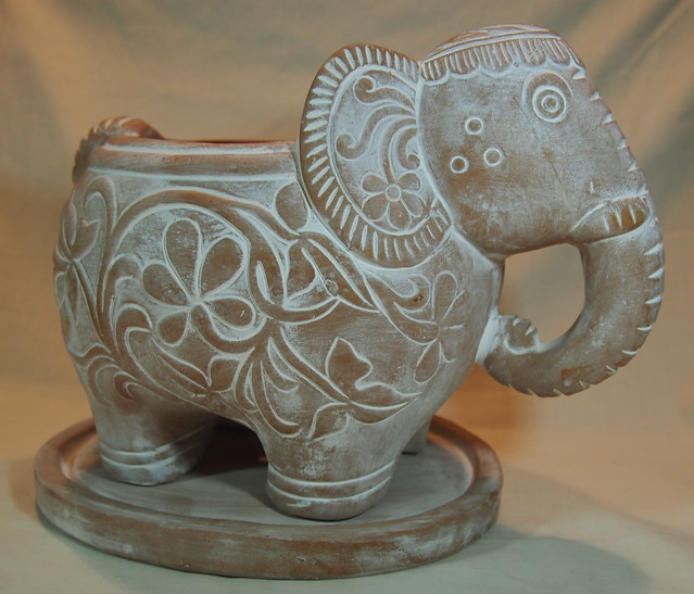 Fairtrade elephant pot