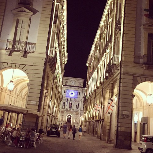 Wow, #Torino is beautiful at night! It looks like a completely different place! #travel #Italy #remoteyear | by cassandrautt
