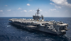 USS Carl Vinson (CVN 70) transits the South China Sea.
