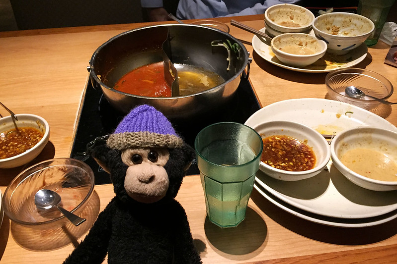 Monkey after shabu shabu