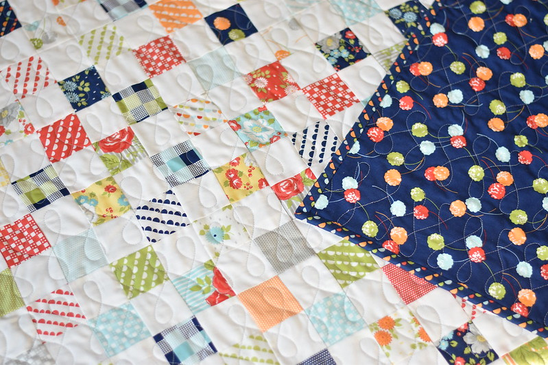 Happy Go Luck Postage Stamp Quilt